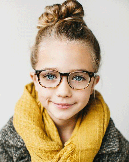 Fashionable girl in Jonas Paul frames