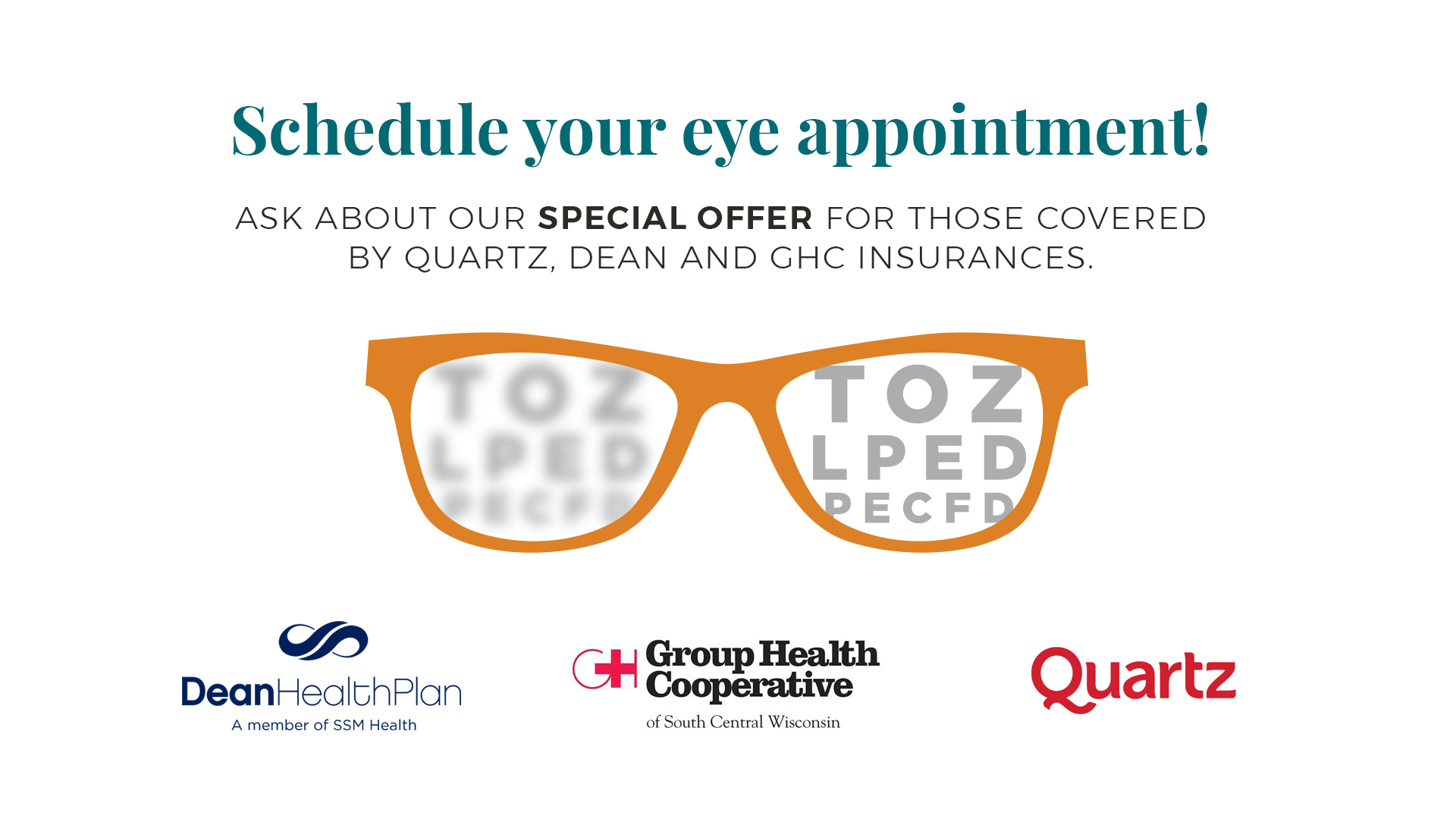 Eye appointment discounts
