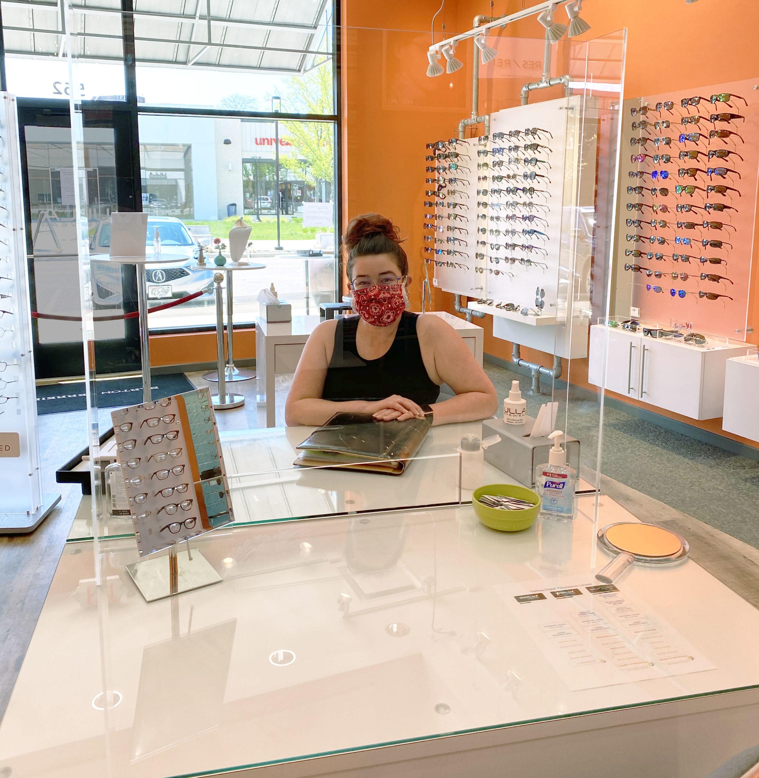Ulla Eyewear in-store PPE