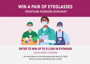 Ulla Eyewear Frontline Worker Eyeglass Giveaway